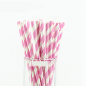Euone 25PCS Drink Paper Straws Birthday Party Supplies Theme Baby Shower