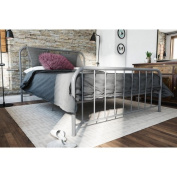 Novogratz Bellamy Grey Metal Bed, Full. Available in Multiple Sizes.