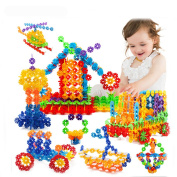 3D Puzzle Jigsaw Plastic Snowflake Building Blocks Building Model Puzzle Educational Toys For Kids With Instructions 118 Pcs