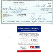Early Wynn/Dom Dimaggio Dual Signed Endorsed Cheque PSA/DNA #P57306