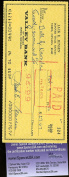 JACKIE JENSEN SIGNED cheque JSA CERTIFIED AUTHENTICATED AUTOGRAPH