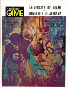 11/14 1971 Miami vs Albama Football Programme