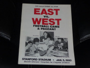1980 EAST WEST ALL STARS COLLEGE FOOTBALL programme ART MONK