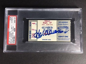 Hank Aaron Autographed, 1971 Atlanta Braves Ticket Stub, HR #637, - PSA/DNA Certified - MLB Autographed Miscellaneous Items