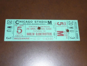 1963 HARLEM GLOBETROTTERS FULL TICKET CHICAGO EX-MINT