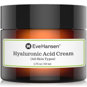 Hyaluronic Acid Cream - Hydrating, Moisturising and Anti Ageing Cream for ALL Skin Types. Anti wrinkle, Skin Plumper, Youthful Skin Faster! Made with Natural and Organic ingredients, Vegan and Pure.