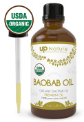 UpNature The Best Baobab Essential Oil 120ml - Organic - 100% Pure Unrefined GMO Free Premium Quality - With Dropper - For Hair & Shampoo Use