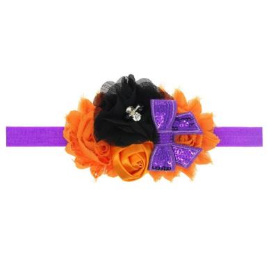 Putars Cute Baby Girl Halloween Headdress Elastic Hair Band (B)