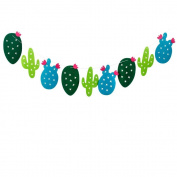 Cactus Banner, Luvu Cute Cacti Party Banner for Hawaii Birthday Festival Room Decoration