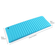 PVC Sleeping Pad Single Fast Inflatable for Blue Camping Hiking with Built in Pump BTC