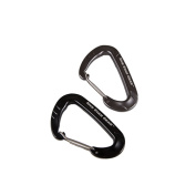5ive Star Gear TSP-6029000 Wiregate Carabiners Black & Grey - Pack of 2