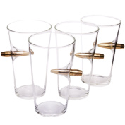 .50 Cal Real Bullet Hand Blown Pint Glass - Set of 4