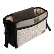 Lalang Pram Buggy Organiser Storage Bag Stroller Hanging Bag Bottle Holder Nappy Organiser