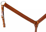 Circle Y Straight Shell Tooled Breast Collar