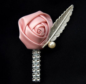 Abbie Home Rose Boutonniere with Pin for Prom Party Wedding- Pack of 2/4/6