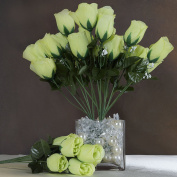 Efavormart 84 Artificial Buds Roses Wedding Flowers Bouquets SALE - Lime Green