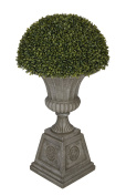 Artificial Boxwood Half Ball Topiary in Urn