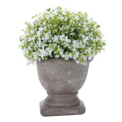 HCSTAR Artificial Plant Potted Mini Fake Plant Decorative Lifelike Flower Green Plants