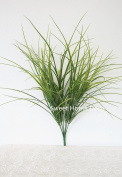 Sweet Home Deco 50cm T Large Plastic Artificial Grass Bush in Three Colours (10 Stems w/ 100 Leaves)