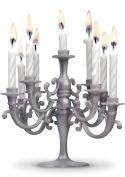 Silver Birthday Candlabra - celebrate in style