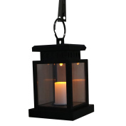 Candle Lantern Sunsbell Outdoor Hanging Lantern LED Solar Mission Lantern with Clamp