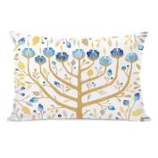 One Bella Casa Menorah 1 Throw Pillow Cover by Ana Victoria Calderon, 36cm x 50cm , Ivory/Yellow