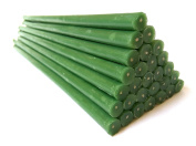Natural Pure Beeswax Candles Green Colour Organic Honey Candles in Gift Box (pack of 25 natural wax candles, 12 Inch