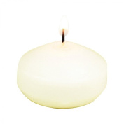 Koyal Wholesale 8-Pack Unscented 4.4cm Floating Candles, Ivory