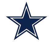 Cowboys Sport team Decal Sticker 10 x 10