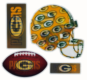 NFL New 4-Piece Ultraflip 3D Multi-Magnets - Holographic NFL Magnets Perfect for Vehicles, Home, School, or at the Office! Represent Your Favourite Team In Style!