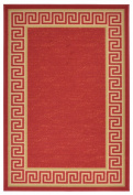 Meander Design Printed Slip Resistant Rubber Back Latex Runner Rug and Area Rugs 5 Colour Options Available
