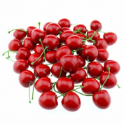 GOOTRADES Artificial Lifelike Simulation Red Cherries Fake Fruit for Party Decoration