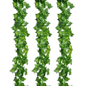 Outus 12 Pack Artificial Greenery Ivy Vine Leaves Garland for Wedding Party Garden Wall Party Decoration