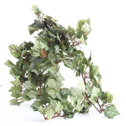 Factory Direct Craft Pair of Cascading Flocked Artificial Grape Leaf Ivy Bush for Home Decor, Crafting and Designing