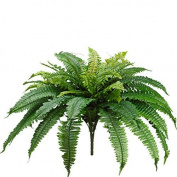 One 60cm Long Silk Artificial Boston Fern Bush 100cm Spread Plant 48 Branches
