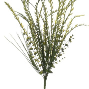 Factory Direct Craft Whispy Artificial Green Leaf and Grass Bush for Centrepieces and Arrangements