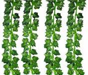50m 24 Strands Strands Fake Foliage Garland Leaves Decoration Artificial Greenery Ivy Vine Plants for Home Room Garden Wedding Outside Decoration