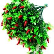 Lopkey Artificial Pepper Fruit Chilli Bunch Fake Plant Party Office Decor