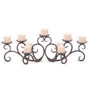 Pilgrim Home and Hearth 17502 Hawthorne Fireplace Candelabra Candle Holder, Distressed Bronze