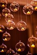 7cm Hanging Glass Globe Candle Holder Bulk Sale Pack of 12
