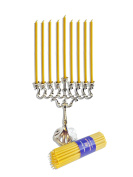 45 Small Chanukah Candles ( 15cm ) 100% Pure Beeswax Natural Honey Scent by Votprof