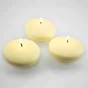 7.6cm Ivory Unscented Dripless Floating Tealight Shape Candles Set