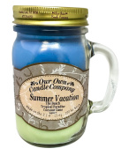 Summer Vacation Scented 380ml Mason Jar Candle By Our Own Candle Company