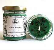 Money Drawing 180ml Soy Spell Candle for Wealth, Financial Security, Propserity