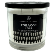 Chesapeake Bay Tobacco Noir Scented Candle with Two Wicks Made in the USA