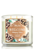 Bath & Body Works WELCOME Mahogany Balsam 3-Wick Candle