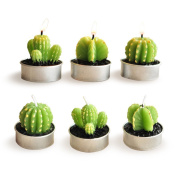 LSHCX Cactus Candles for Home Decor, 6 Pack