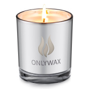 Onlywax Lavender Scented Candle 100% Soy Wax Silver Plating Glass Jar. Unique and Amazing Smelling Spa Candles.Perfect Votive Gift for Wedding, Party, SPA, Zen, Reiki. 250ml