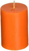5.1cm x 7.6cm Orange Pillar Candle