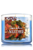 Bath & Body Works SWEATER WEATHER 3 wick scented CANDLE fall 2016 …